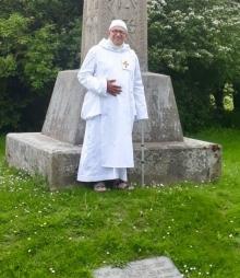 Dom Ugo-Maria at St. Augustine's Cross Pegwell Bay Parish of Minster