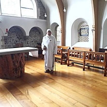 Dom Ugo-Maria at Minster Priory Church in 2008