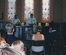Dom Ugo-Maria's concelebrating at a wedding Mass in Meath Ireland