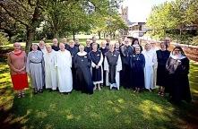 Dom Ugo-Maria attending meeting of Religious Superiors at Canterbury
