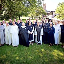 Dom Ugo-Maria attending meeting of Religious Superiors at Canterbury